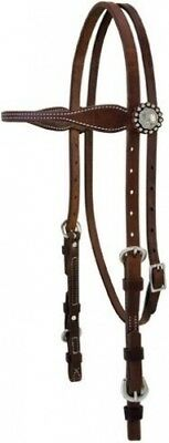 Stacy Westfall ProTack Oiled Browband Headstall. Weaver Leather. Brand New
