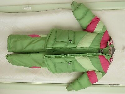 "Ski Suit Girl's Size 5/6 Overall & Parka Size 5-6 ""london Fog"" See Photos Vgc"