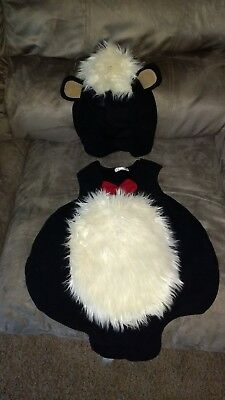 The Children's Place toddler boy or girl skunk costume 18-24m