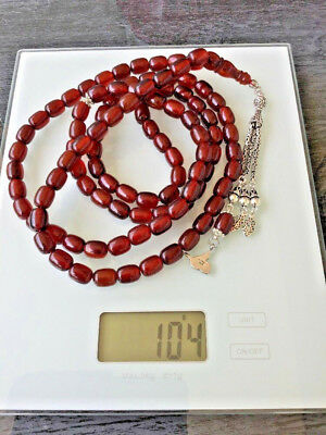 99 ANTIQUE CHERRY BAKELIT GEBETSKETTE PRAYER BEADS Haddsch TESBIH  BAYRAM ISLAM
