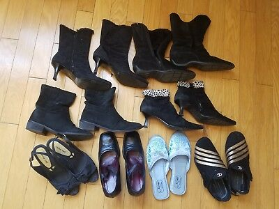 GUC Lot of 8 pairs of boots, shoes, sandals, sneakers, sleepers size 37-37.5