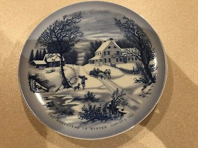 The Homestead In Winter - Bond International Plate