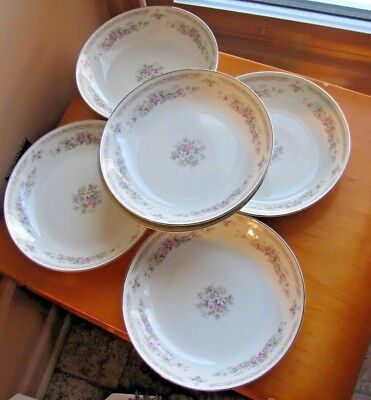 CELEBRITY FINE CHINA - ELIZABETH pattern Coupe Soup Bowl LOT 6 Excellent
