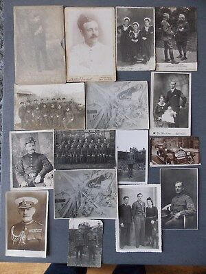 A collection of Antique/Vintage Military Cabinet/Postcards & Photos