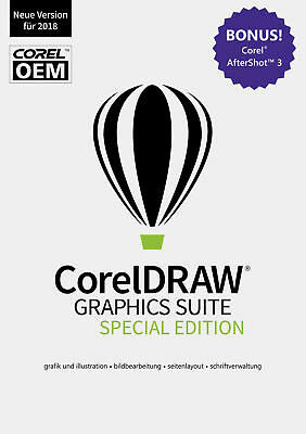 CorelDRAW Graphics Suite (Edition 2018) Special Edition OEM + AfterShot 3 / KEY