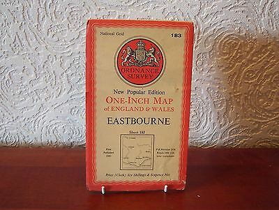 OS Map 1946 Eastbourne, Vintage, One Inch, sheet 183, Cloth