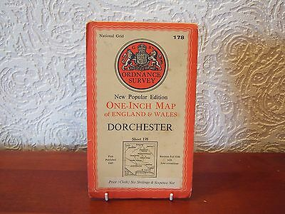 OS Map 1945 Dorchester, Vintage, One Inch, sheet 178, Cloth