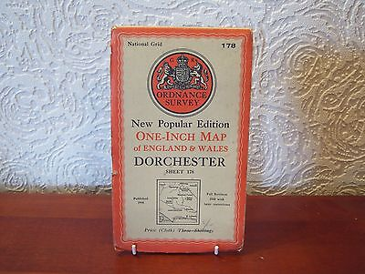 OS Map 1946 Dorchester, Vintage, One Inch, sheet 178, Cloth
