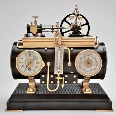 Extremely Rare French Automaton Steam Engine Compendium Circa 1900