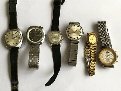 Job Lot Of vintage Watches Mechanical Hand Wind watches Ticking/Spare Or repair