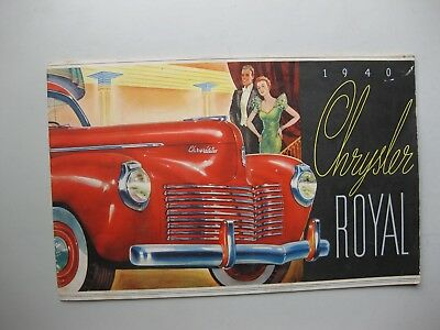 Chrysler Royal prestige brochure Prospekt English text 20 pages 1940 Canada