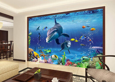 Residents Of Ocean 3D Full Wall Mural Photo Wallpaper Printing Home Kids Decor