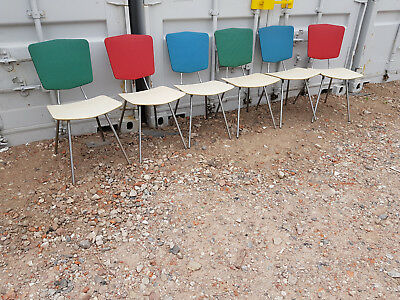 Set of 6 50er The 60er Chairs Cocktail Chairs Mid Century Vintage Rockabilly