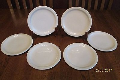 "Six 7 1/4"" Syracuse China Adobe Salad Plates ~ Scalloped Edge ~ Restaurant Ware"