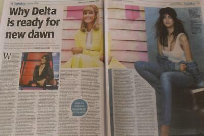 """DELTA GOODREM*2 Page JUNE 2018*Newspaper Clipping*""""Delta Is Ready For New Dawn*"""