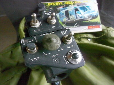 Bell  204  UH-1  Huey Helicopter  Original throttle control head