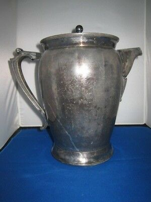 Pure Silver Lined Antique Adams Haddock 19th Century Crytochylon Ice Pitcher
