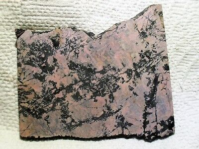 North Carolina Mineral Slab Only 1 Rare Rhodonite Ashe Co, Nc No Reserve Wow!!!!