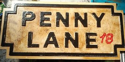 The Beatles- Penny Lane, Chance to Own a Replica of Britain's Most Famous Sign