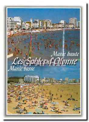 Modern Postcard High tide Sables d'Olonne Low tide