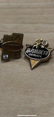 Vintage Alpha Beta Grocery Store Employee Service Pins 10k 25 Year