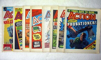 British Action comics, two earlier issues, six later issues