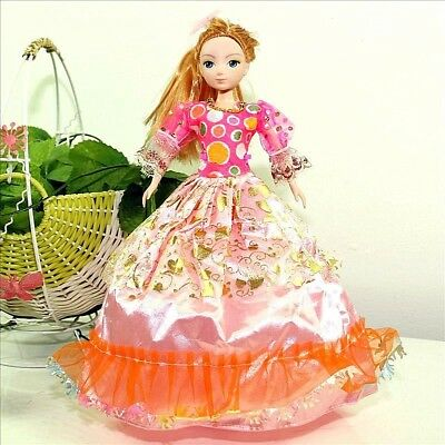 Handmade Party Dress Fashion PinkO Clothes For Barbie Doll Outfit Gown Wedding
