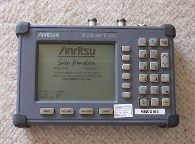 Anritsu 2 port Site Master S251B (S 251 B), inklusive RF power monitor and cable