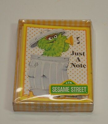 Vintage Lot of 6 OSCAR the GROUCH Sesame Street BLANK Notes