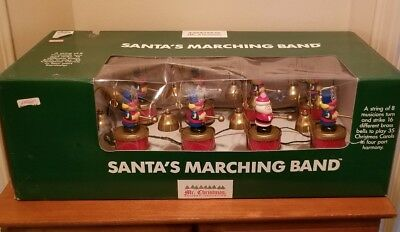 vtg mr christmas santas marching band nib new and rare