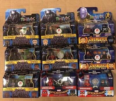 Large Lot of 9 Minimates Marvel Cinematic Universe Exclusives Mint In Box