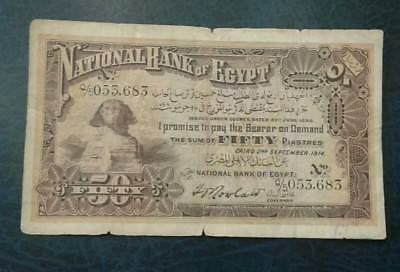 Egypt 50 piastres 1914 very rare hard to find.