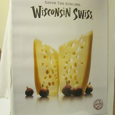 Swiss Cheese Wisconsin Milk Dairy Agriculture Advertising Poster 2009