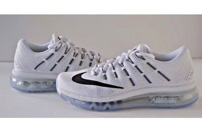 best service 3a63b a032c Nike Air Max 2016 Women s Size 7 Running Shoes 806772-100 Summit White Black