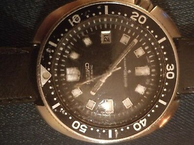 mens rare vintage automatic watch seiko 6105-8110 working perfectly.