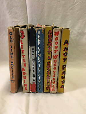 7 8mm Castle Films - Woody Woodpecker Andy Panda Abbot & Costello Old Time Movie