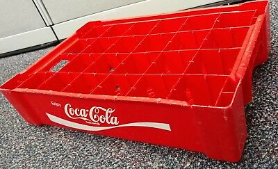 Red Plastic Coca-Cola 24 divided Carrier Case Crate COKE