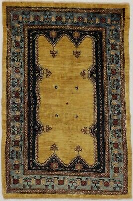 Nice Handmade Unique Tribal Gabbeh Oriental Wool Rug Modern Persian Carpet 3X5