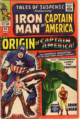 Tales of Suspense #63 March 1965 (5.0)