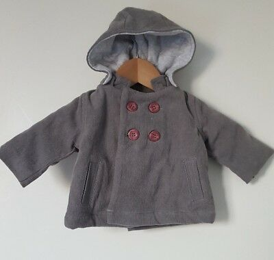 Pure Baby warm baby boys girls jacket size 000 with hood