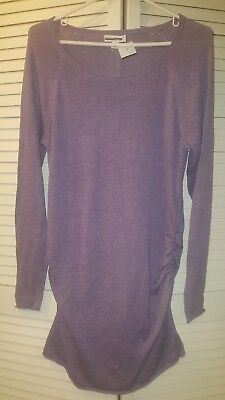 Liz Lange medium purple maternity sweater long sleeves new with out tags