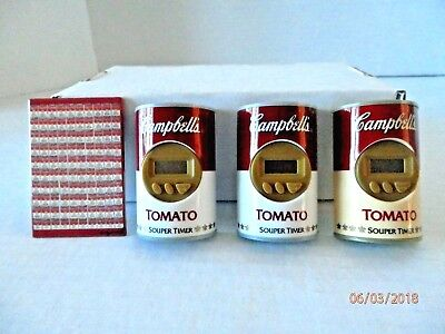 Vintage 3 Campbell's Tomato Souper Timers Magnet and Andy Warhol Magnet