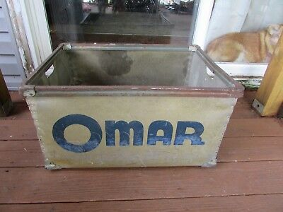 RARE Vintage 1949 OMAR Bakery Large Industrial Delivery Truck Bin Container Box