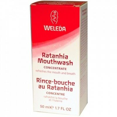 Weleda 0753434 Ratanhia Mouthwash Concentrate - 1.7 fl oz. Brand New