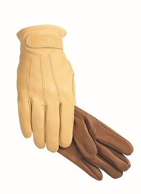 (8, Acorn) - SSG Winter Lined Trail/Roper Riding Gloves. Delivery is Free