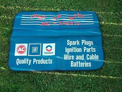 Vintage AC Delco Fender Mat Cover Spark Plugs Batteries Tune Up GM Unused NOS