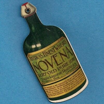 1901 NOVENA RYE~Celluloid Calendar+Ad Book (C.F.Haven)~Rheinstrom Bros~Cinci Oh