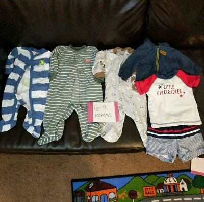 Baby boy clothes 6-9 months lot of 44 pieces EUC
