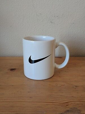 Black Nike Swoosh Logo White Coffee Mug Advertising Promotional