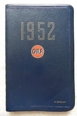 Personal Planner/date Book 1952 – With Gulf Insignia – Look